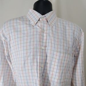 ALAN FLUSSER White Checked Shirt Size L
